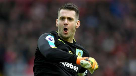 Heaton is ready to battle with Nick Pope for the number one jersey at Burnley. GOAL