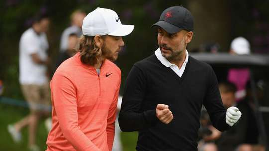 Golfer Tommy Fleetwood is impressed with Guardiola's passion for the sport. GOAL