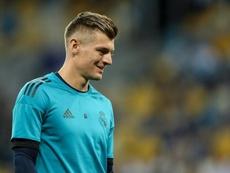 Toni Kroos Real Madrid Training. AFP