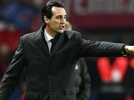 Unai Emery pendant un match de Ligue 1 entre Paris Saint-Germain et Rennes. AFP