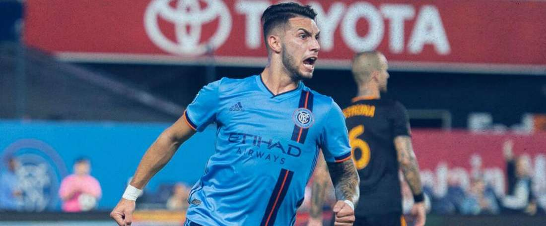 New York City 3-2 Houston Dynamo: Castellanos scores 93rd-minute winner. Goal