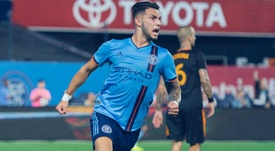 New York City 3-2 Houston Dynamo: Castellanos scores 93rd-minute winner. Goal