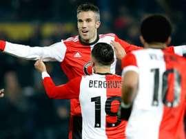 Robin van Persie scores first goal since Feyenoord return. Goal