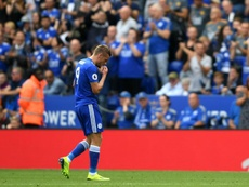 Vardy received a red card in the Premier League match against Wolves. Goal