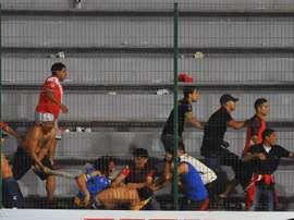 Veracruz fans. Goal
