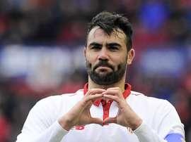 Vicente Iborra celebrating a goal. Goal