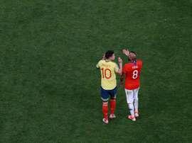 James e Vidal é o duelo que a Copa América precisava.