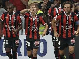 Vincent Koziello, lors d'un match de Ligue 1 avec Nice. AFP