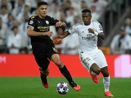 Vinicius foi um dos destaques do Real Madrid na partida contra o City. Goal