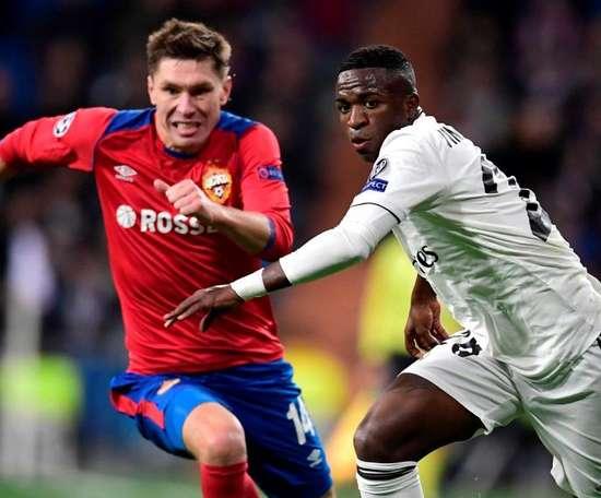 Vinicius Jr. foi o único ponto positivo no vexame do Real Madrid contra o CSKA. Goal