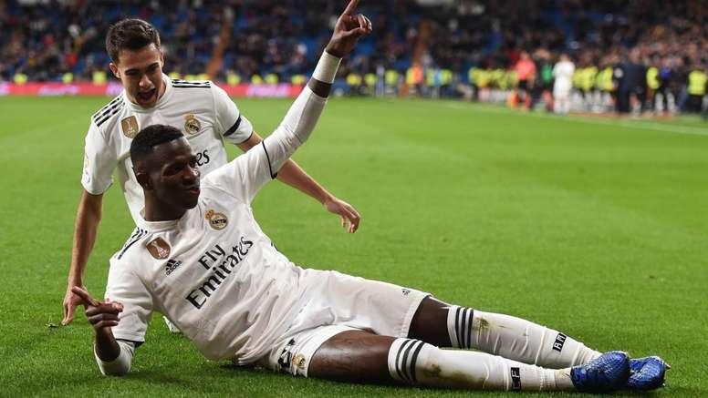 Vinicius making 'huge strides' at Madrid, says Solari