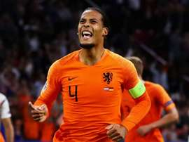 Van Dijk scored the last-minute equaliser against Germany. GOAL