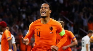 Van Dijk has been struggling with a rib injury in recent weeks. GOAL