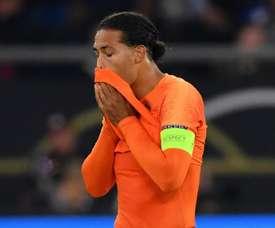 Virgil van Dijk Germany vs Netherlands Nations League. Goal