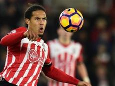 Virgil van Dijk in action for Southampton. Goal