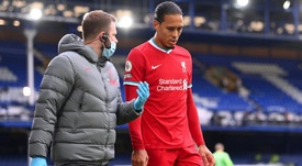 Van Dijk is out. AFP