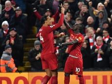 Liverpool-Manchester City 3-1, les Reds se détachent. AFP