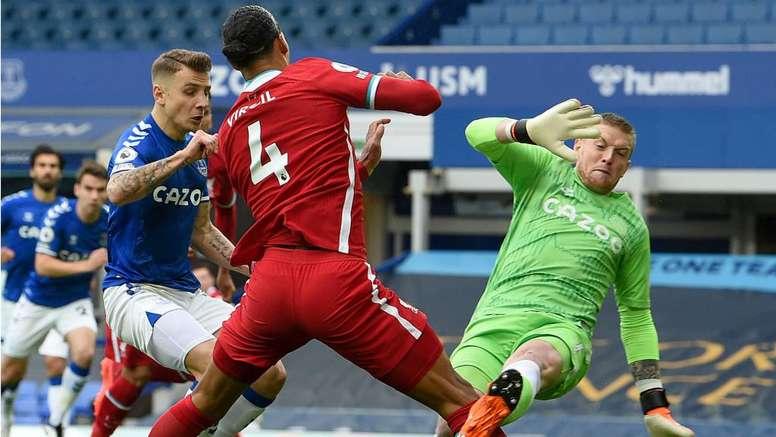 Frank de Boer was not happy after Virgil van Dijk got injured. AFP