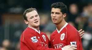 Wayne Rooney Cristiano Ronaldo Manchester United 2006-07.