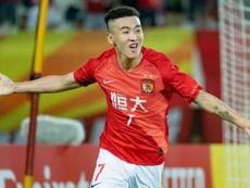 Wei Shihao scored for Guangzhou in their 2-1 win. GOAL