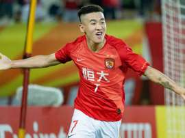 Wei Shihao scored for Guangzhou in their 2-1 win. GOAL