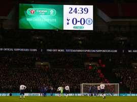 Arrest at Tottenham-Chelsea tie. Goal