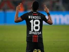 Wendell vibou com a vitória do Leverkusen. Goal