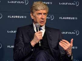 Wenger spoke after his Lifetime Achievement award. GOAL