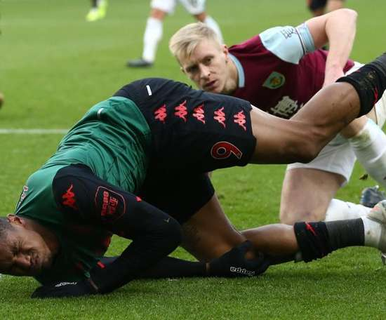 Aston Villa suffered a huge blow when Wesley got injured at Turf Moor. GOAL
