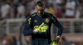 Weverton sente dores, pede substituição, mas diz que não deve ser problema para o Palmeiras