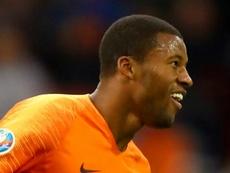 Hat-trick hero Wijnaldum 'so happy', says Netherlands boss Koeman. AFP