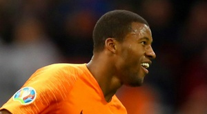 Hat-trick hero Wijnaldum 'so happy', says Netherlands boss Koeman. AFP