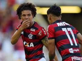 Willian Arao Lucas Paqueta Flamengo Atletico-MG Brasileirao Serie A. Goal