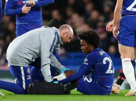 Sarri relieved over 'not very serious' Willian injury.