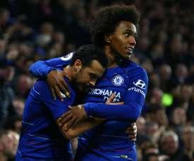Chelsea a profité du faux-pas d'Arsenal. Goal