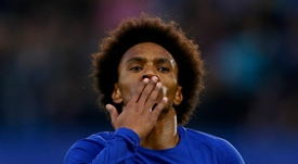 Willian insists he is very happy at Chelsea. GOAL