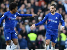 Willian would be sad to see Hazard leave Chelsea. Goal