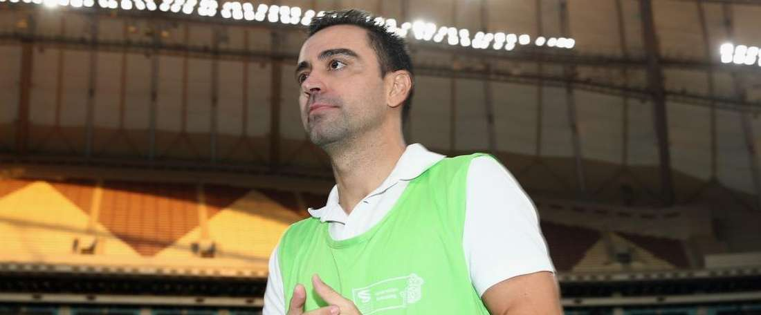Xavi had a goal disallowed for Al Sadd. GOAL