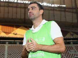 Xavi had a goal disallowed for Al Sadd. GOAL