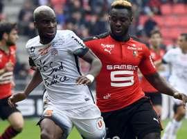 Yacouba Sylla et Joris Gnagnon lors du Rennes-Montpellier. Goal