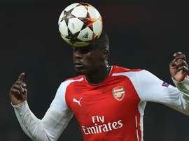 Yaya Sanogo, lors d'un match de Premier League avec Arsenal. AFP