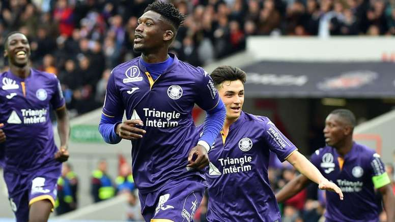 Yaya Sanogo a défendu son bilan à Toulouse. GOAL