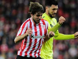 Yeray Alvarez (L) in action for Athletic Bilbao. Goal