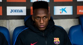 Mina has returned to training with Barcelona despite Everton link. Goal