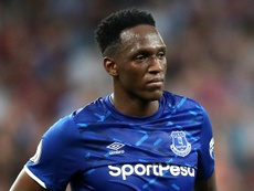 Yerry Mina, do Everton, é alvo de interesse do Valencia. DUGOUT