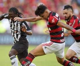 Yimmi Chara Lucas Paqueta Para Flamengo Atletico-MG Brasileirao Serie A. Goal