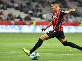 Youcef Attal sous le maillot de Nice. goal