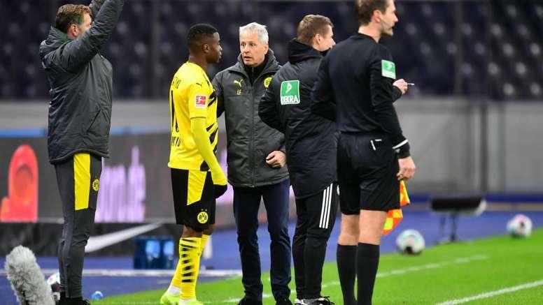 La météorite Moukoko fait ses débuts avec Dortmund. afp