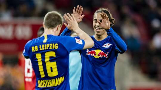 Yussuf Poulsen is emerging as a key player for RB Leipzig. GOAL