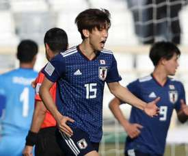 Japan escaped with the narrowest of victories. GOAL